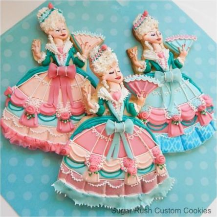 Pin of the day - Marie Antoinette Decorated Cookies